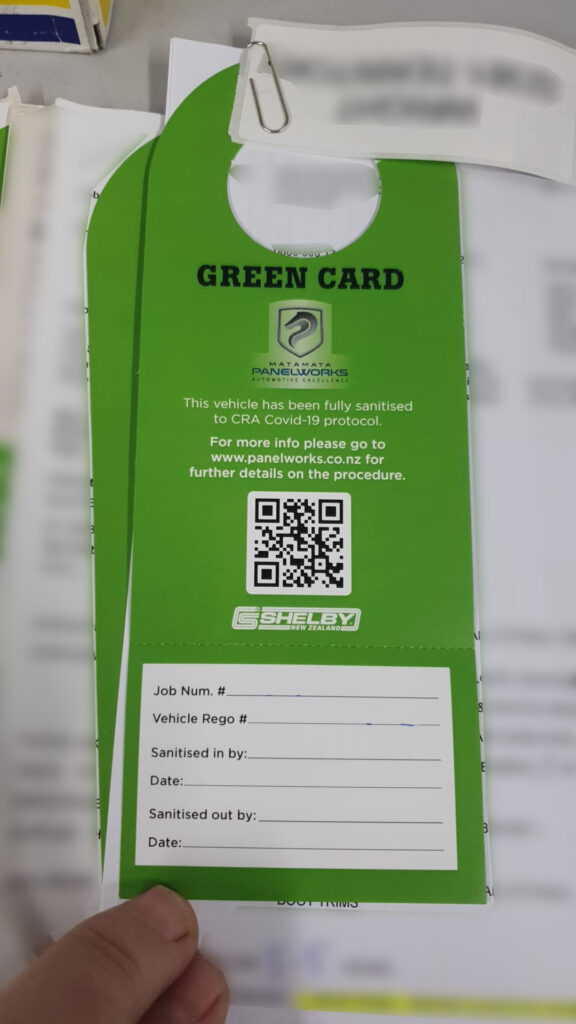 Green Card Fully Sanitised